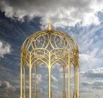 Gold Pagoda Background PVS by pixievamp-stock