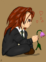 A flower for his Flower by Monster-upthe-Stairs