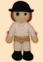 Amigurumi Alex from A Clockwork Orange by ShadyCreations