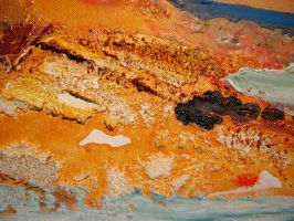 Detail of the painting  Hot Flow by IronAries
