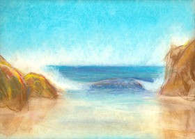 Ocean Wave study by deviantmike423