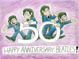 Happy Anniversary Beatles! by IrishBecky