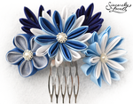 Winter Stars Kanzashi by SincerelyLove