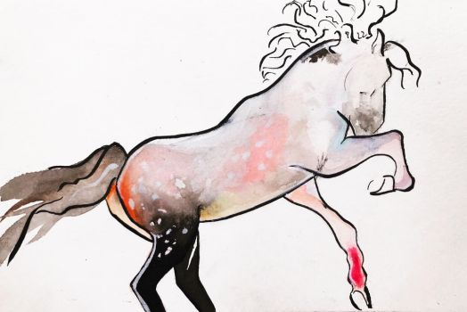 Abstracted Horse by hilarygood