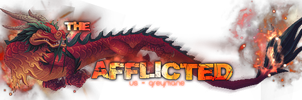 Afflicted Banner -transparent by Myssham