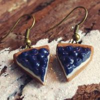 Blueberry Pie Earrings by PumpkinDream