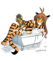 Bath Time Flora by Twokinds