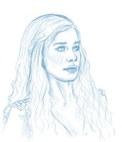 Khaleesi - Daily sketch by charligal-stock