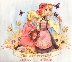 The Aki Sisters by Val-Krayon