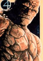 The Thing - Sketch Card by J-Redd