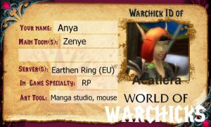 Warcraft girls ID by acatiera