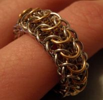 Dragon Back Chainmail Ring by ImrikDragon
