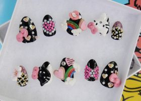 3D HELLO KITTY KAWAII SET by jadelushdesigns