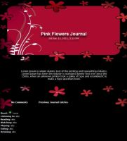 Pink Flowers Journal by Vivirmivida