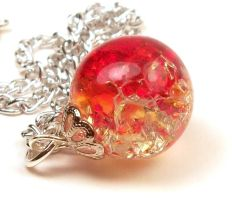 Firey Fried Marble Necklace by annjepsen