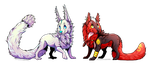 .:Gift:. Grypwolf and pharos by ZuLei1010