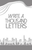 Write a thousand Letters by Euphrysicia