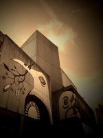 URBAN ABSTRACT #2 ( SEPIA + VIGNETTE ) by ANDYBURGESS
