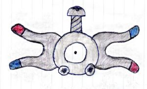 Poke'Mon MAGNEMITE Male {Sketched by My Daughter} by Empress-XZarrethTKon