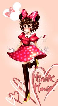 :Minnie Mouse: by mino-the-cat