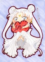 5x7 Traditional Princess Serenity Chibi Love by kuroitenshi13