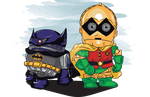 Bat-D2 and Rob-3PO by jmascia