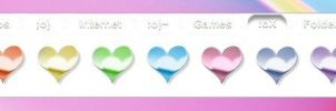 Anodized Heart Pngs by TNBrat