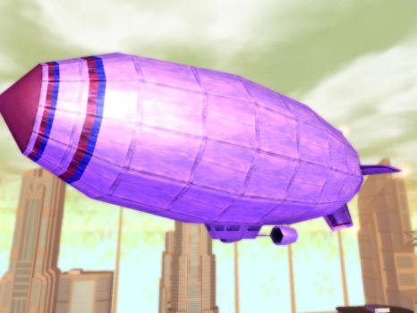 City of Heroes Blimp by CaptFox