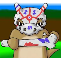 Cubone Warrior by Raichulolrat
