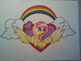Fluttershy tattoo design by dannabats