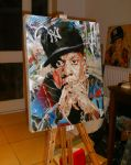 Jay Z painting by artbydavidc