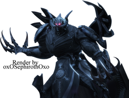 Chaos Bahamut Render by Athraxas