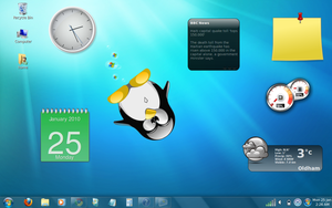 Linux - Windows 7 by DigitallyDestined
