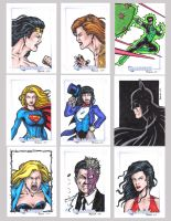 DC Legacy Sketch Cards Q by tonyperna