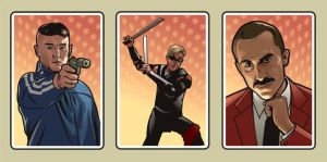 Smokin' Aces: cards by Cloxboy