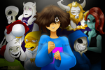 Undertale Bad End Night 2 by HezuNeutral
