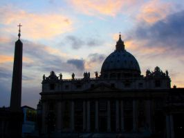 st. peter's basilica by magnesart