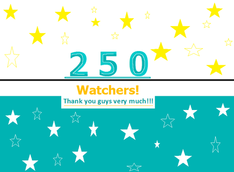 250 Watchers!!! by Gojilion91
