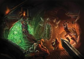 Fantasy Dungeon Crawl Scene by Jamienobes