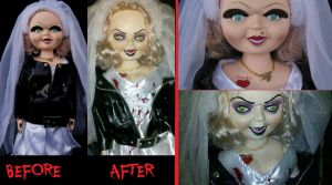 Tiffany doll from Bride of Chucky repainted by Garrett7392