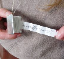 Sliver Book Necklace - Limited Edition by ThePressGang-ink