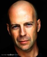 Bruce Willis Digital Painting Vexel Art by KhaleeqXaman