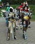 Tyrael and Demon Hunter by ArcaneArchery