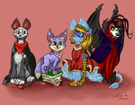 Family photo - Neopets art trade by astro-cosmos