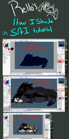 Rello's: How I shade tutorial (SAI) by R3llO