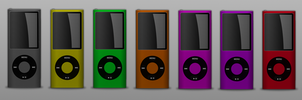 Collection of iPod Nanos by sycamoreent-REMIX