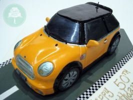 Mini Cooper (Cake) by Sliceofcake