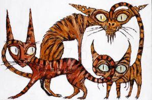 Tarrie Cats by CliveBarker