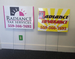 Radiance Tax Services H Stake Signs by Hannele-Kahkonen