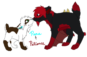 Rena and Patience by BanditKat
